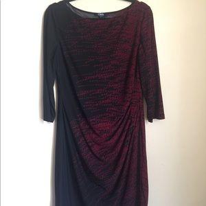 Chaps pleated dress XL